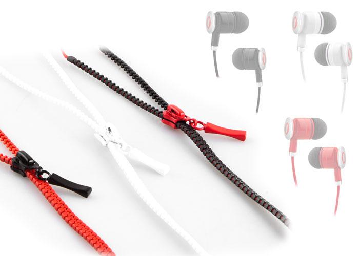 Snopy SN-808 Fermuar Kablolu Kırmızı Kulak İçi Kulaklık