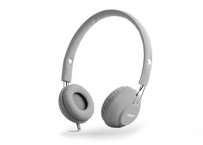Snopy SN-933 Mobil Telefon Uyumlu Rubber Gri Mikrofonlu Kulaklık