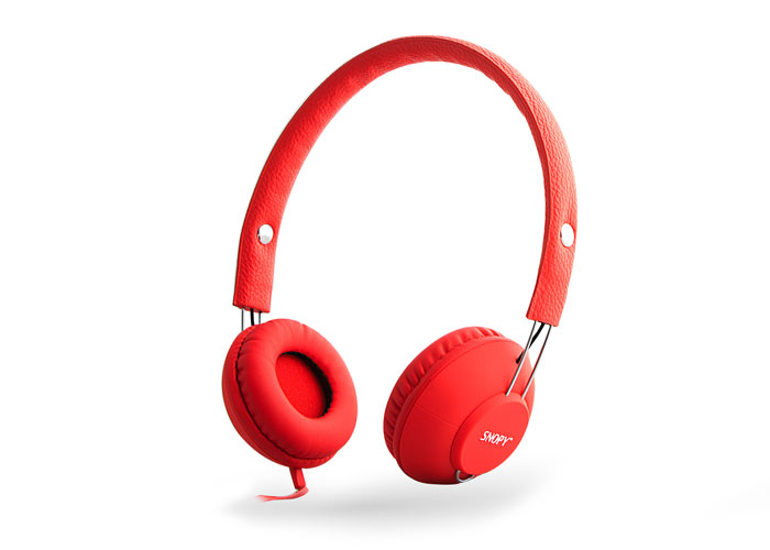 Snopy SN-933 Mobil Telefon Uyumlu Rubber Kırmızı Mikrofonlu Kulaklık