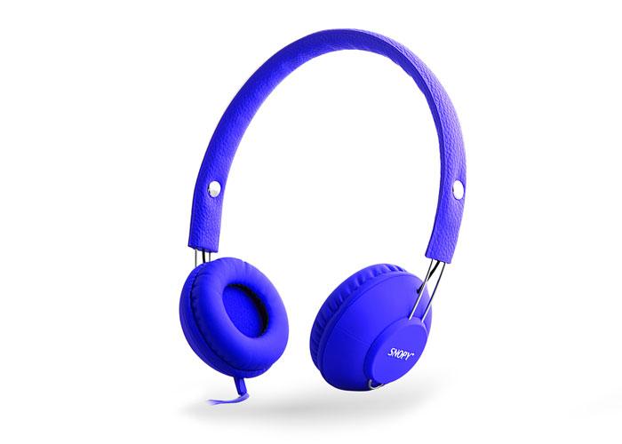 Snopy SN-933 Mobil Telefon Uyumlu Rubber Mavi Mikrofonlu Kulaklık