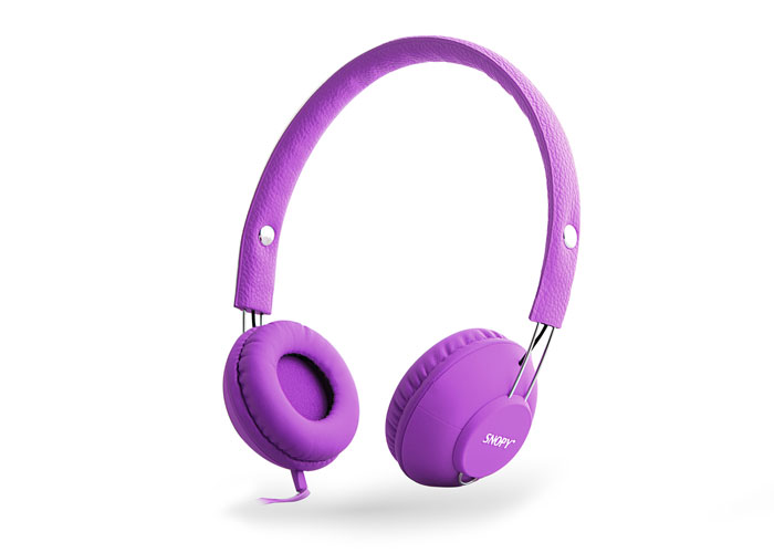 Snopy SN-933 Mobile Phone Compatible Rubber Purple Microphone Headset