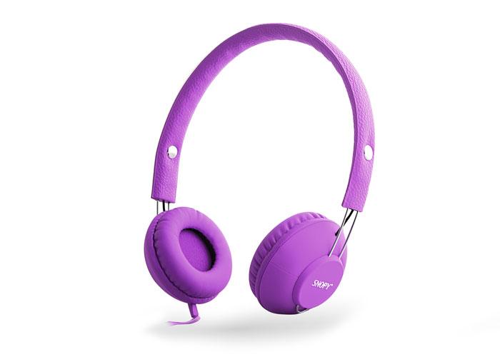 Snopy SN-933 Mobil Telefon Uyumlu Rubber Mor Mikrofonlu Kulaklık