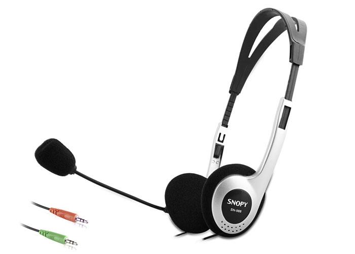 Snopy SN-988 Siyah/gümüş Mikrofonlu Kulaklık