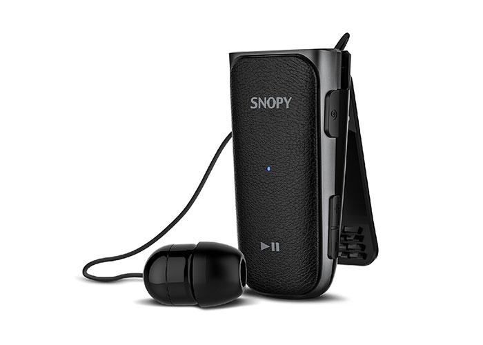 Snopy SN-BT140 Mobil Telefon Uyumlu Makaralı Titreşimli Siyah/Gri Bluetooth Kulaklık
