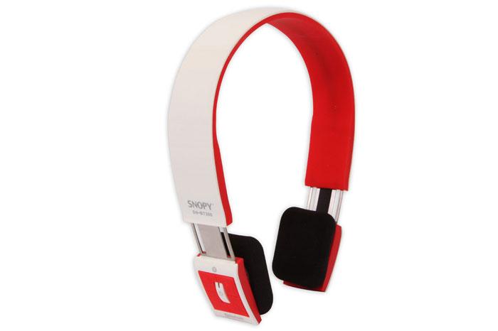 Snopy SN-BT300 Mobil Telefon Uyumlu Bluetooth Beyaz/Kırmızı Mikrofonlu Kulaklık