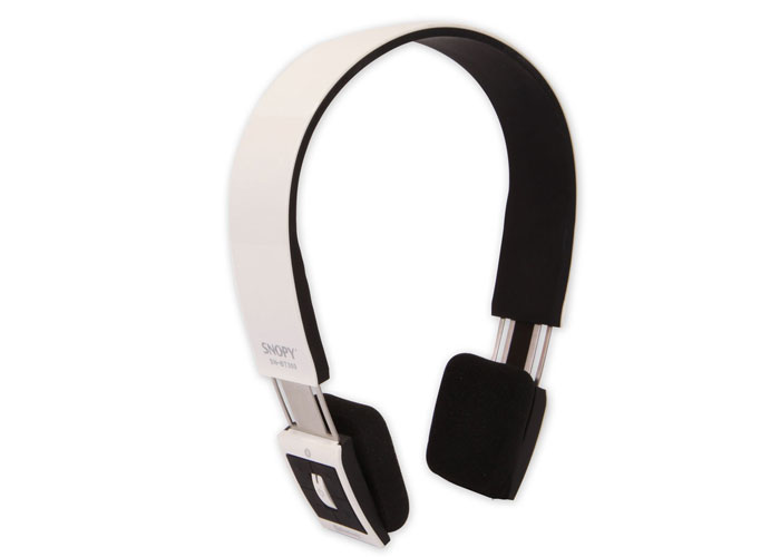 Snopy SN-BT300 Mobil Telefon Uyumlu Bluetooth Beyaz/Siyah Mikrofonlu Kulaklık