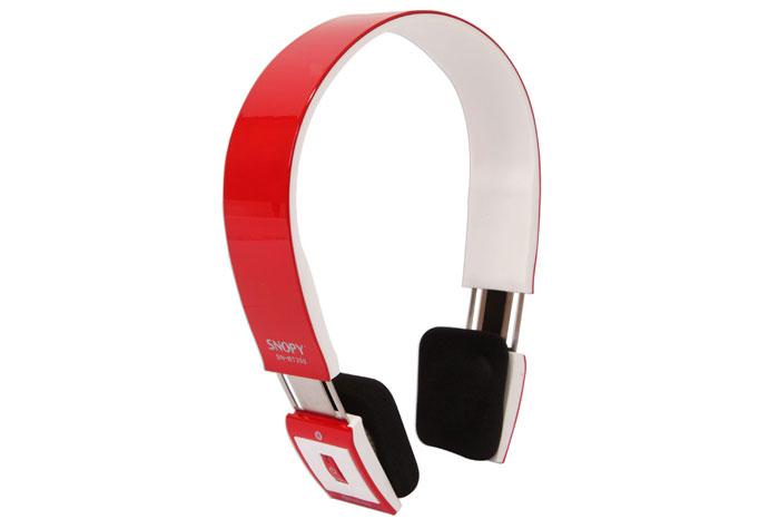 Snopy SN-BT300 Mobil Telefon Uyumlu Bluetooth Kırmızı/Beyaz Mikrofonlu Kulaklık