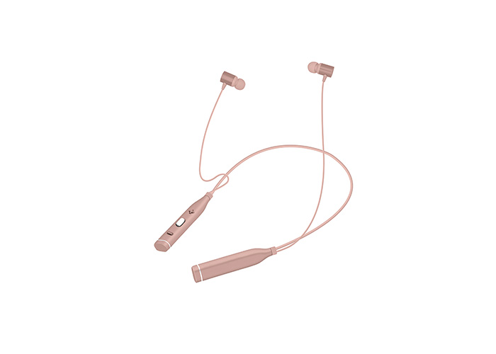 Snopy SN-BTS20 Rose Gold Boyun Askılı Mıknatıslı Bluetooth Spor Kulak içi Kulaklık  Mikrofon