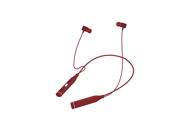Snopy SN-BTS20 Kırmızı Boyun Askılı Mıknatıslı Bluetooth Spor Kulak içi Kulaklık  Mikrofon