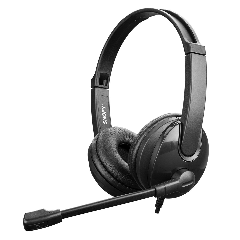 Snopy SN-CS30 Siyah USB Çağrı Merkezi Call Center Mikrofonlu Kulaklık