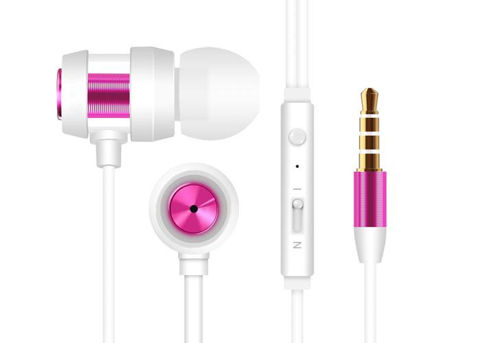 Snopy SN-J01 Mobil Telefon Uyumlu Kulak içi Beyaz/Pembe Mikrofonlu Kulaklık