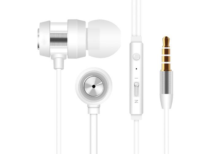 Snopy SN-J01 Mobil Telefon Uyumlu Kulak içi Beyaz/Gümüş Mikrofonlu Kulaklık