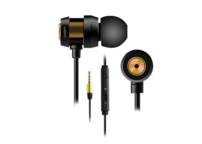 Snopy SN-J01 Mobil Telefon Uyumlu Kulak içi Siyah/Gold Mikrofonlu Kulaklık