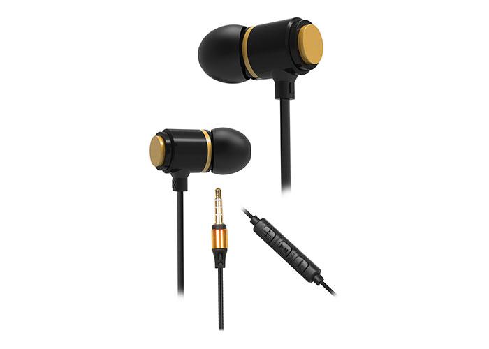 Snopy SN-J03 Blackstone Mobil Telefon Uyumlu Taşıma Çantalı Kulak içi Siyah/Gold Mikrofonlu Kulaklık