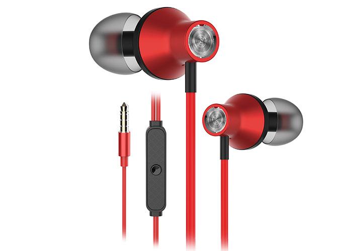Snopy SN-J19 Mobil Telefon Uyumlu Kulak içi Kırmızı Mikrofonlu Kulaklık