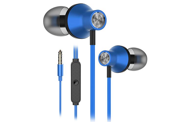 Snopy SN-J19 Mobil Telefon Uyumlu Kulak içi Mavi Mikrofonlu Kulaklık