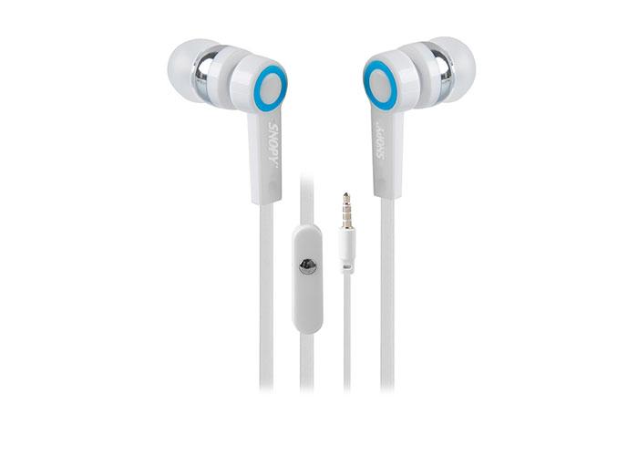Snopy SN-J5 Mobil Telefon Uyumlu Kulak içi Beyaz Mikrofonlu Kulaklık