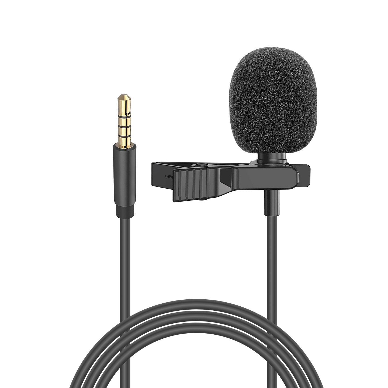 Snopy SN-M20 Siyah Akıllı Telefon ve Youtuber Metal mandallı, Yaka Mikrofonu
