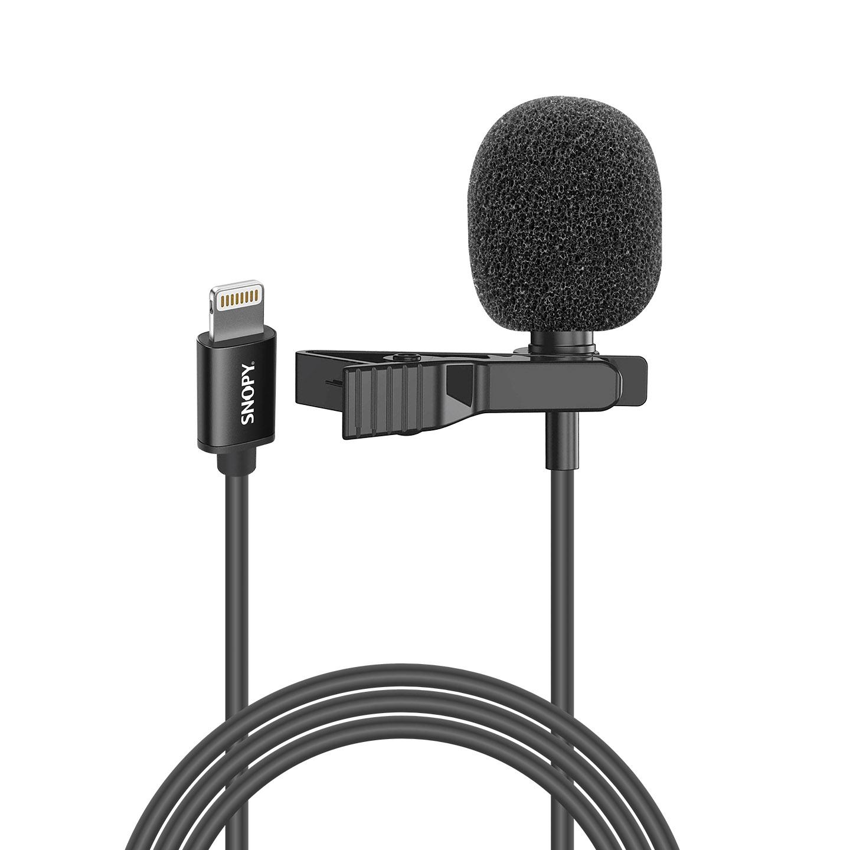 Snopy SN-M30 Siyah Lightning Akıllı Telefon Tiktok Yaka Mikrofonu