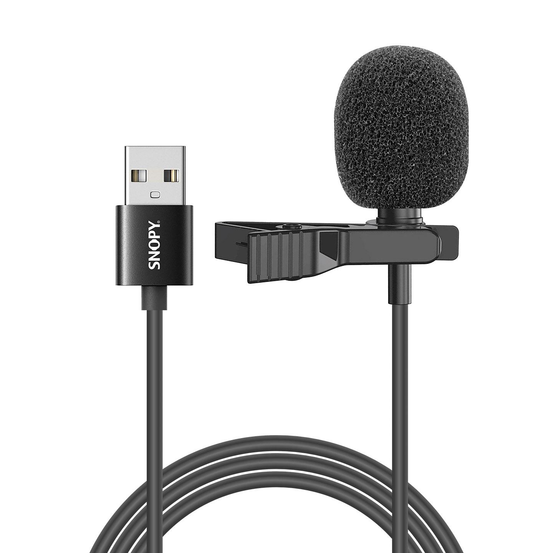 Snopy SN-M50 Siyah USB Akıllı Telefon Tiktok Yaka Mikrofonu