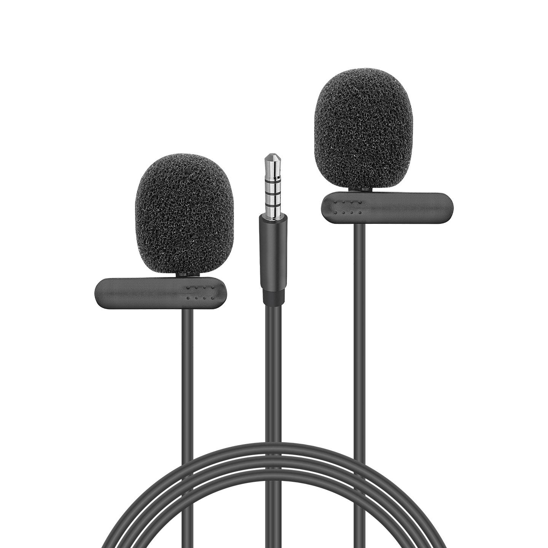 Snopy SN-M60 Siyah 2 Mikrofonlu Akıllı Telefon ve Youtuber Yaka Mikrofonu