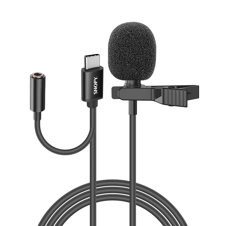Snopy SN-MTK45 Siyah TypeC Tik-Tok Akıllı Telefon Kulaklık Çıkışlı Yaka Mikrofonu