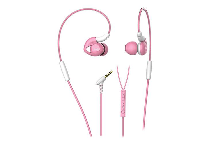 Snopy SN-RS51 Mobil Telefon Uyumlu Kulak içi Kulaklık Pembe Mikrofonlu Kulaklık