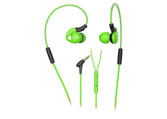 Snopy SN-RS51 Mobile Phone Compatible In-Ear Earphone Green Headset with Microphone