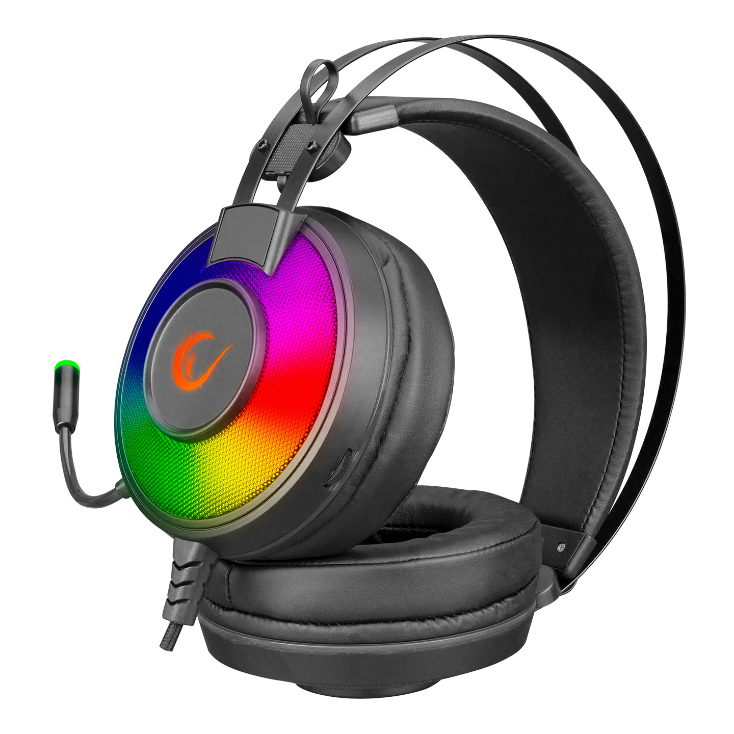 Rampage SN-RW66 ALPHA-X RGB- 7.1 Surround Sound System Gaming Headset with Microphone