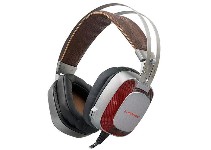 Rampage SN-RW77 PRESTIGE Metallic Gray USB 7.1 Ergonomic Design Hidden Microphone Gaming Headset