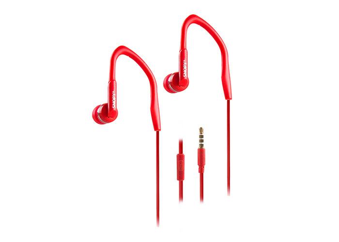 Snopy SN-S3 Mobil Telefon Uyumlu Spor Kulak içi Kırmızı Mikrofonlu Kulaklık