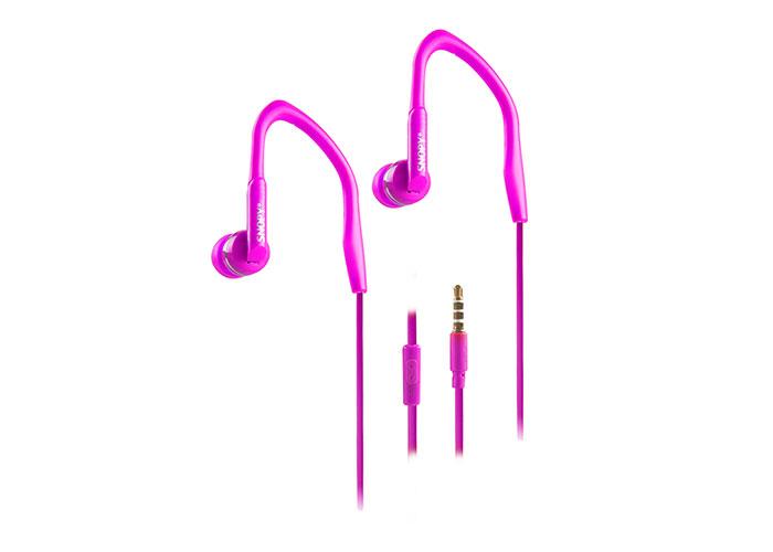 Snopy SN-S3 Mobil Telefon Uyumlu Spor Kulak içi Mor Mikrofonlu Kulaklık
