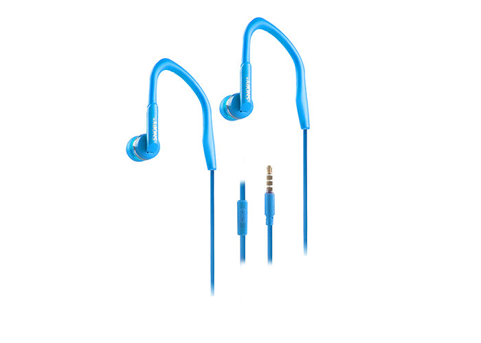 Snopy SN-S3 Mobil Telefon Uyumlu Spor Kulak içi Mavi Mikrofonlu Kulaklık