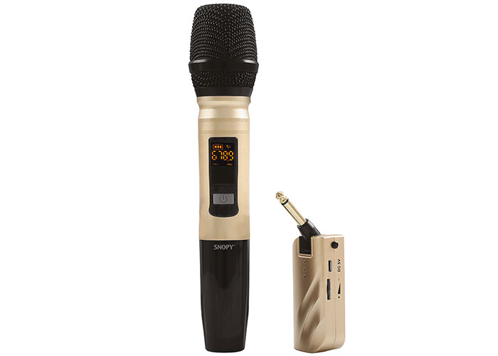 Snopy SN-U22 Gold UHF Wireless Handheld Microphone