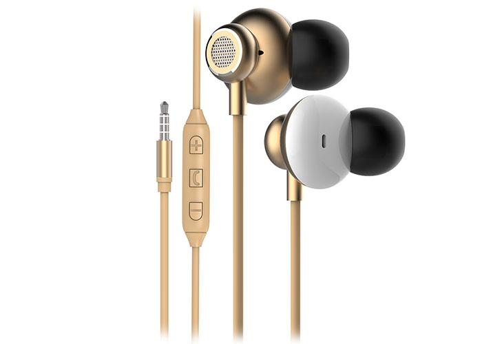 Snopy SN-X03 ARCUS Mobil Telefon Uyumlu Gold Kulak İçi Mikrofonlu Kulaklık