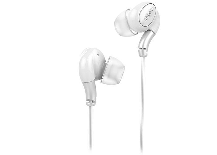 Snopy SN-X06 Mobil Telefon Uyumlu Beyaz Kulak İçi Mikrofonlu Kulaklık