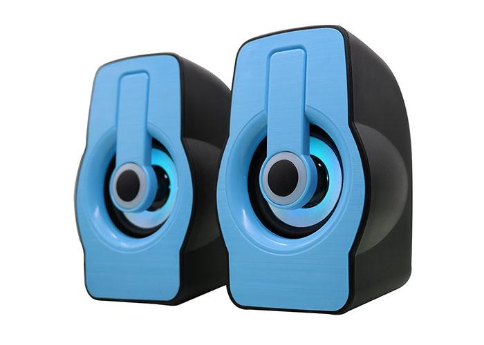 Snopy SN-X23 2.0 Multimedia RGB Işıklı 3W*2 Siyah/Mavi USB Speaker
