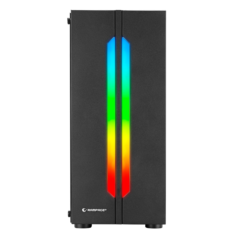 Rampage SPECTRA Tempered Glass Rainbow Fan ve Ledli 1*Usb 3.0 + 2* Usb 2.0 Gaming Kasa