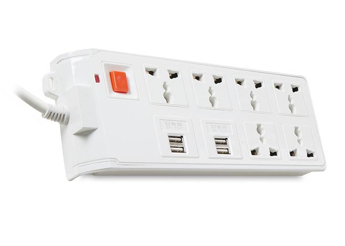 S-link Swapp SPGKS08 1.2m EU 4 USB (5V 2.1A) 6lı Universal Priz Çoklayıcı