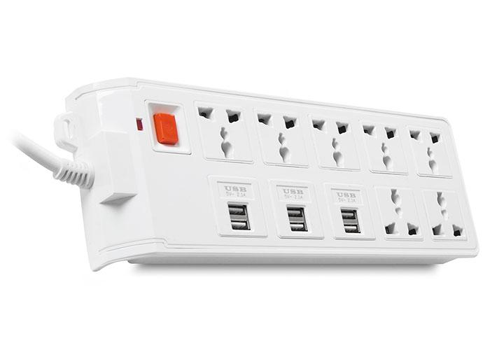 S-link Swapp SPGKS09 1.2m EU 6 USB (5V 2.1A) 7li Universal Priz Çoklayıcı