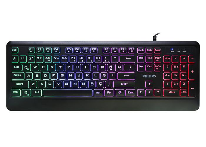 Philips SPK8294 Siyah Rainbow Aydınlatmalı Gaming Oyuncu Klavyesi