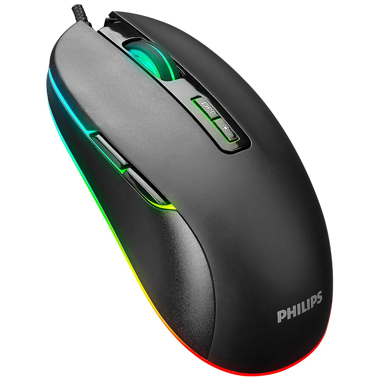 Philips SPK9414 Usb 7Tuşlu Siyah 1200/1600/2400/3600dpi Gaming Oyuncu Mouse