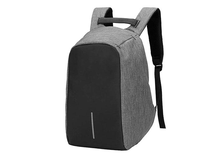 Addison ST-490 Black / Gray Hidden Zippered Computer Notebook Backpack