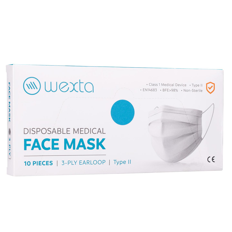 Wexta STL3PLY Koyu Mavi Melt Blown Yetişkin Koruyucu Yüz Maskesi 10'lu
