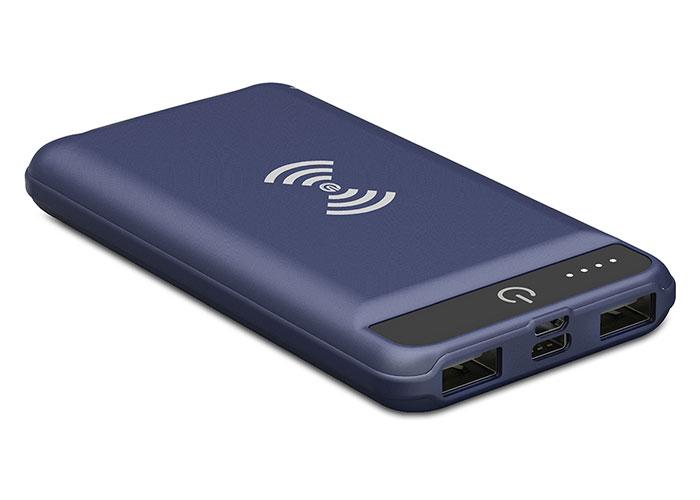 S-Link Swapp IP-G16W 16000mAh Kablosuz Powerbank Mavi Taşınabilir Pil Şarj Cihazı