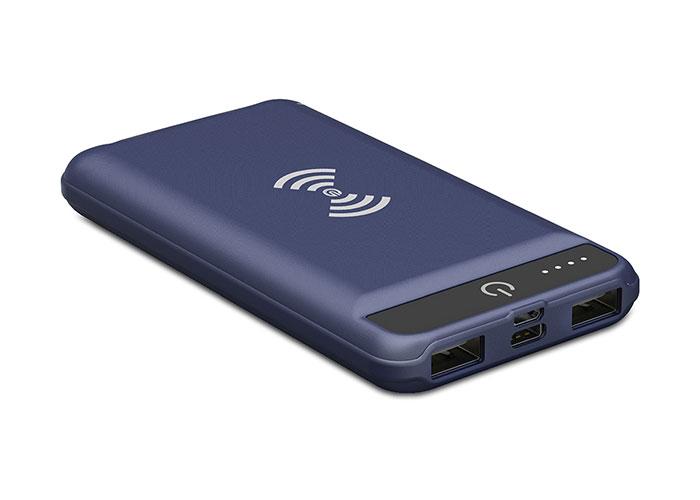 S-Link Swapp IP-G8W 8000mAh Kablosuz Powerbank Mavi Taşınabilir Pil Şarj Cihazı