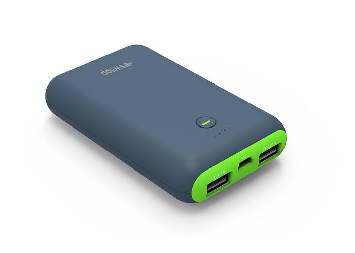 S-Link Swapp IP-S75 7500mAh Powerbank Gri/Yeşil Taşınabilir Pil Şarj Cihazı