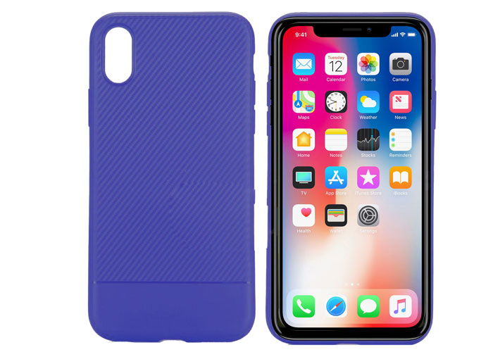 S-link Swapp SWK-215BL Mavi iPhone X KarbonFib. Hafif Koruma Kılıfı