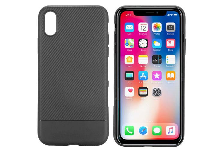 S-link Swapp SWK-215B Siyah iPhone X KarbonFib. Hafif Koruma Kılıfı
