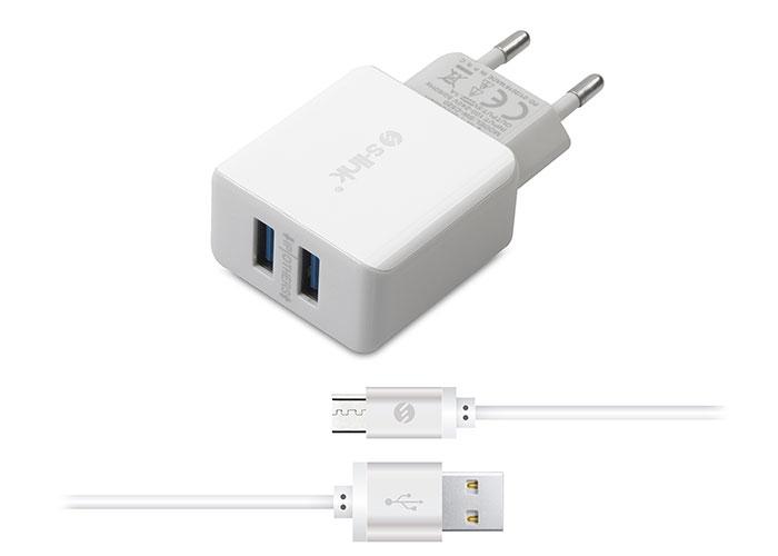 S-link Swapp SW-C520 Micro Usb 2.1A Kablo ve Ev Şarj Adaptörü